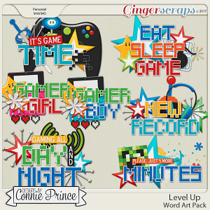 Level Up - WordArt Pack