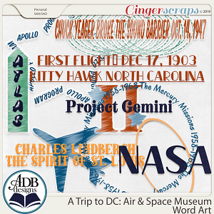A Trip to DC - Air & Space Museum Word Art by ADB Designs