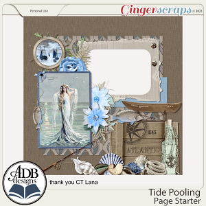 Tide Pooling Quick Page Gift 04 by ADB Designs