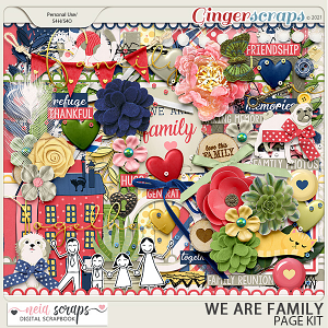 We Are Family - Page Kit - by Neia Scraps
