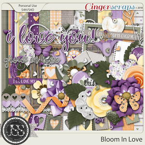 Bloom In Love Digital Scrapbook Kit