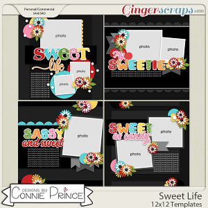 Sweet Life - 12x12 Templates (CU Ok) by Connie Prince