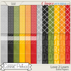 Love 2 Learn - Extra Papers by Connie Prince