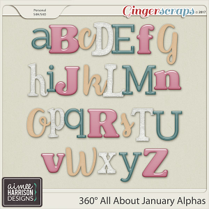 360° All About January Alpha Sets by Aimee Harrison