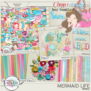 Mermaid Life - Bundle- by Neia Scraps
