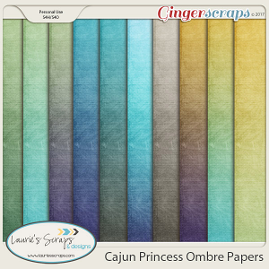 Cajun Princess Ombre Papers