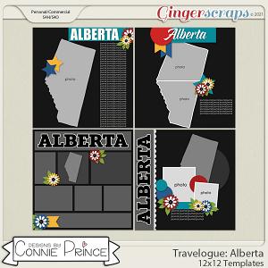 Travelogue Alberta Canada - 12x12 Temps (CU Ok) by Connie Prince