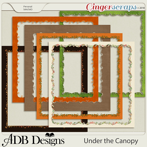 Under The Canopy Page Borders by ADB Designs