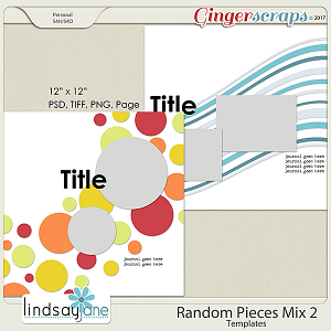 Random Pieces Mix 2 Templates by Lindsay Jane