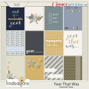 Year That Was Journal Cards by Lindsay Jane