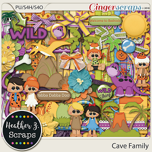 Cave Family KIT by Heather Z Scraps
