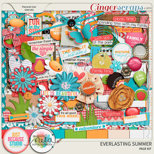 Everlasting Summer Page Kit by JB Studio and Neia Scraps