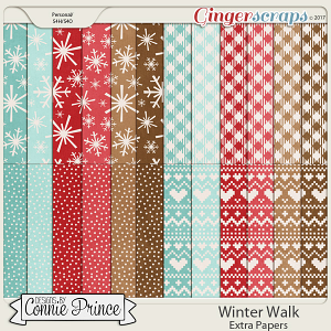 Winter Walk - Extra Papers by Connie Prince