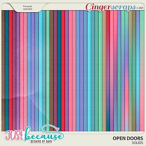 Open Doors Solids by JB Studio