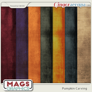 Pumpkin Carving GRUNGE PAPERS by MagsGraphics