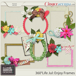 360°Life July: Enjoy Frame Clusters by Aimee Harrison