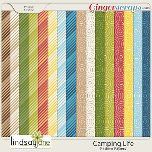 Camping Life Pattern Papers by Lindsay Jane
