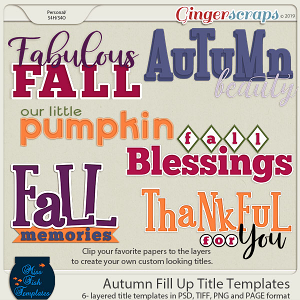 Autumn Fill Up Title Templates by Miss Fish
