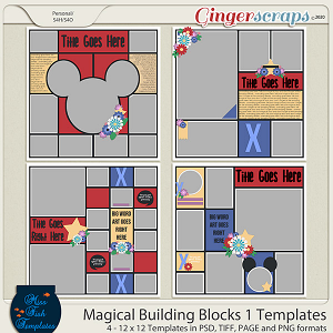 Magical Building Blocks 1 Templates by Miss Fish