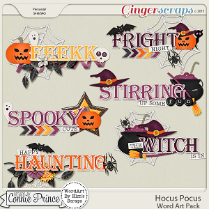 Hocus Pocus - WordArt Pack