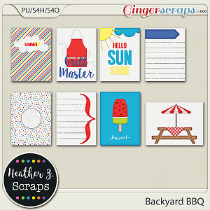 Backyard BBQ JOURNAL CARDS by Heather Z Scraps