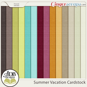 Summer Vacation Cardstock Solids by ADB Designs