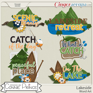 Lakeside - Word Art Pack by Connie Prince