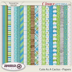 Cute As A Cactus - Papers by Aprilisa Designs