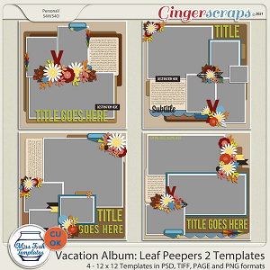 CU - Vacation Album: Leaf Peepers 2 by Miss Fish Templates