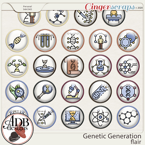 Genetic Generation Flairs by ADB Designs
