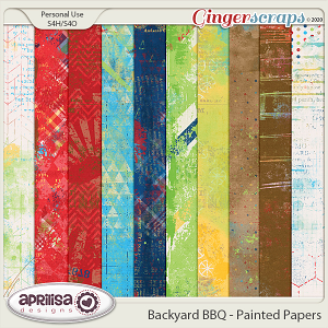 Backyard BBQ - Painted Papers by Aprilisa Designs