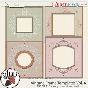 Heritage Resource - Vintage Frame Templates Vol. 04 by ADB Designs