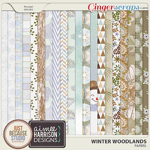 Winter Woodlands Papers by JB Studio & Aimee Harrison Designs