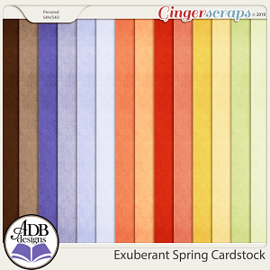 Exuberant Spring Cardstock Papers by ADB Designs