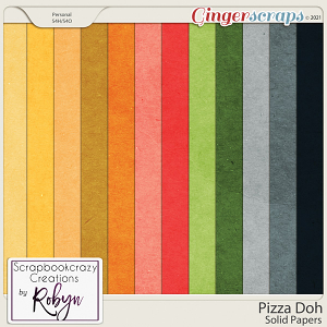 Pizza Doh Solid Papers by Scrapbookcrazy Creations