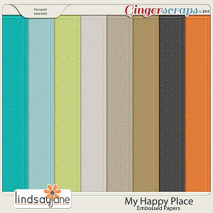 My Happy Place Embossed Papers by Lindsay Jane