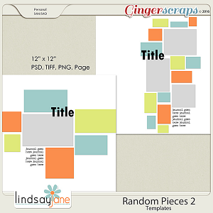 Random Pieces 2 Templates by Lindsay Jane