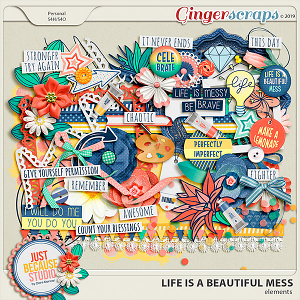 Life Is A Beautiful Mess Elements by JB Studio