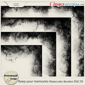 Keep your memories Watercolor Borders Vol.16