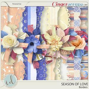 Season Of Love Borders by Ilonka's Designs