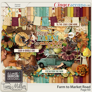 Farm to Market Road Page Kit by Aimee Harrison and Tami Miller Designs