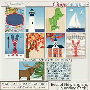 Best of New England (journaling cards)