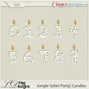 Jungle Safari Party: Candles by LDragDesigns