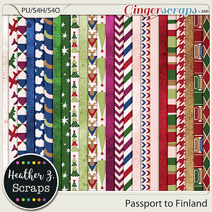 Passport to Finland PAPERS by Heather Z Scraps