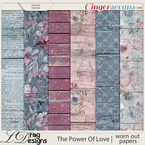 The Power Of Love: Worn Out Papers by LDragDesigns