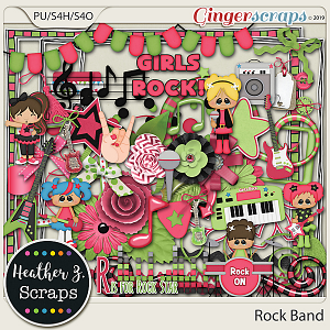 Rock Band GIRL ELEMENTS by Heather Z Scraps