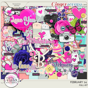 February 14 - full kit - By Neia Scraps