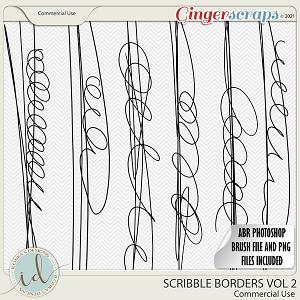 CU Scribble Borders Vol 2 by Ilonka's Designs