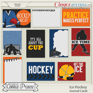 Ice Hockey - Journal Cards