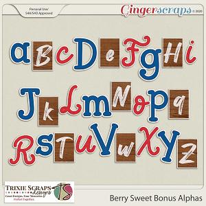 Berry Sweet Bonus Alphas by Trixie Scraps Designs